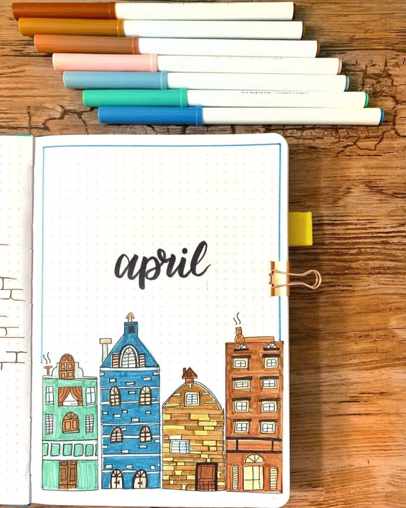 Stay Home April Bullet Journal Cover