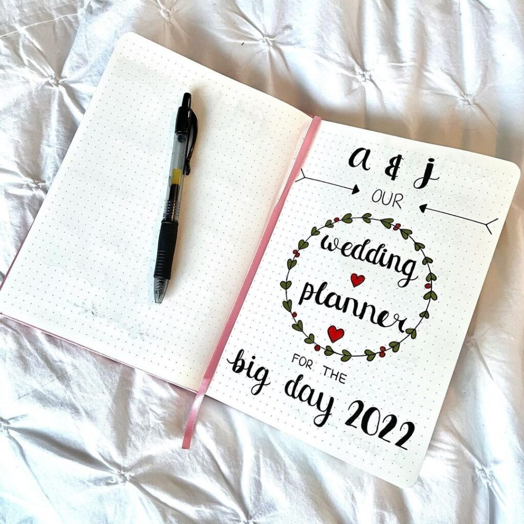 Wedding Planner Bullet Journal Page