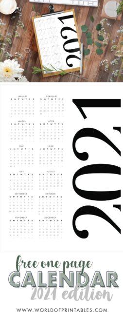 contemporary free printable calendar 2021