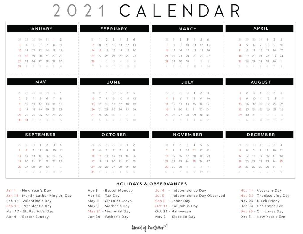 national day calendar 2021