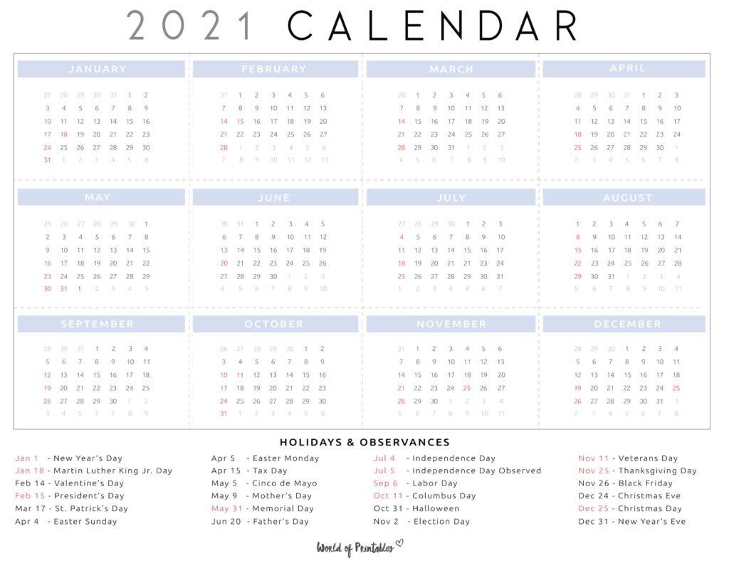 national days calendar