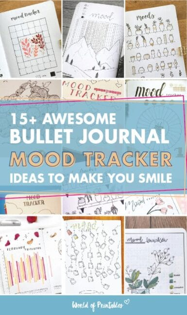 15 awesome bullet journal mood tracker ideas