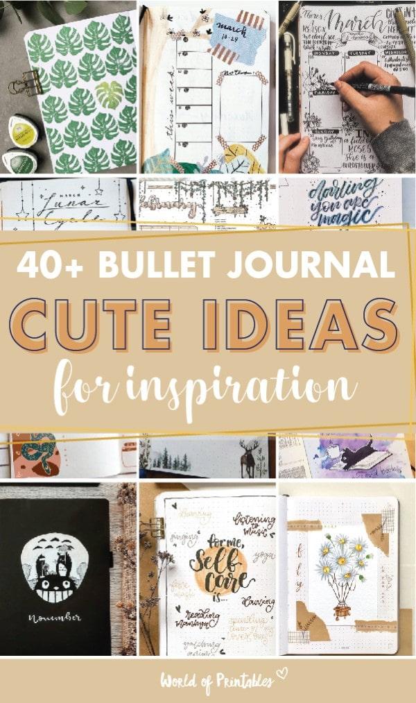 cute bullet journal ideas for inspiration