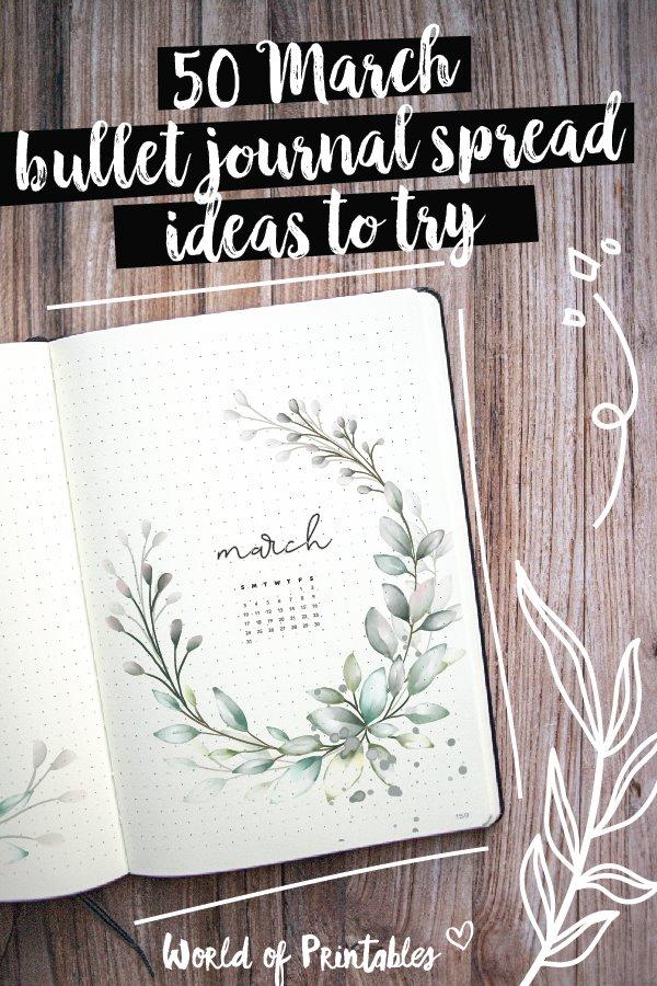 50 march bullet journal spread ideas