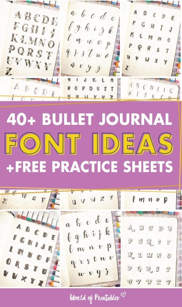 Best Bullet Journal Font Ideas-inspiration