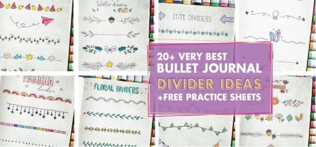 20+ Best Bullet Journal Divider Ideas