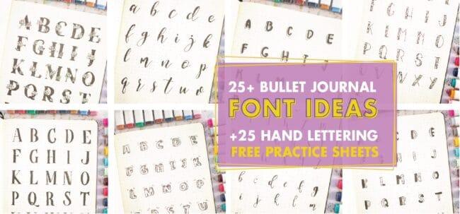 25+ Best Bullet Journal Font Ideas For Inspiration