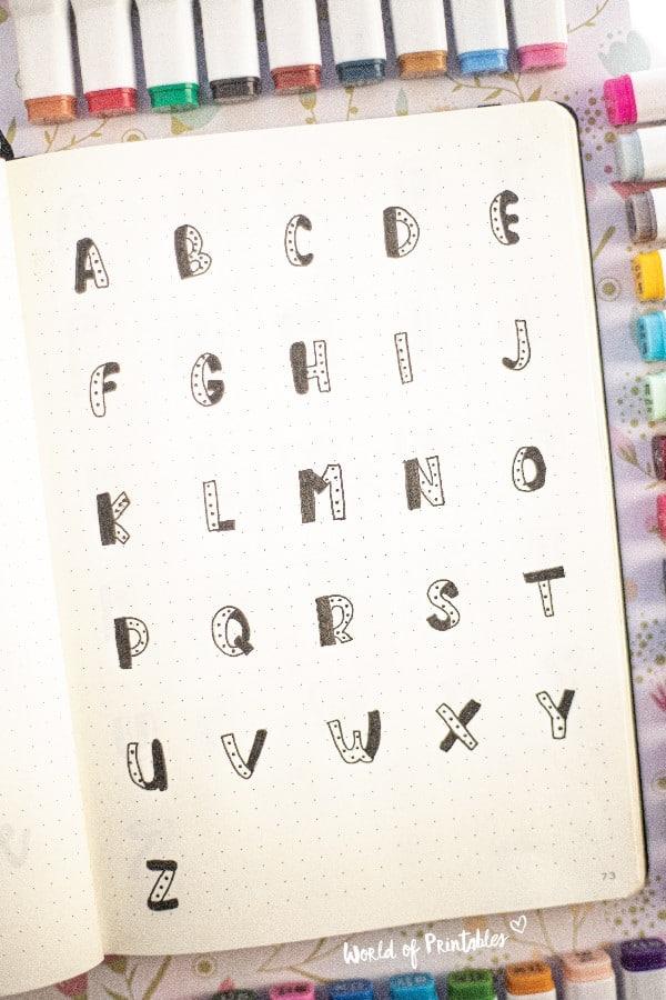 dottet bujo font