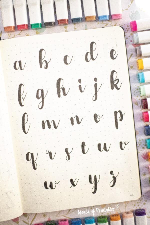 cursive bujo font