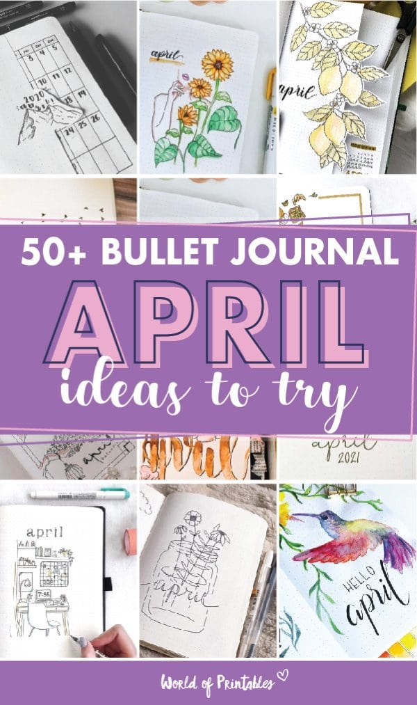 50 bullet journal april cover ideas to try
