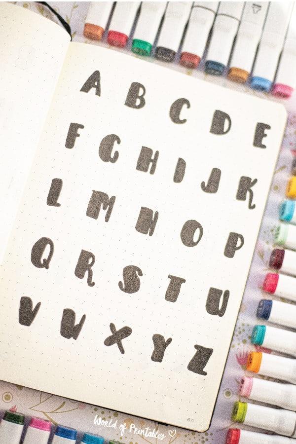 bold bullet journal font