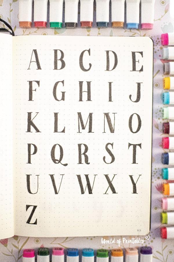 best font inspiration for bujo