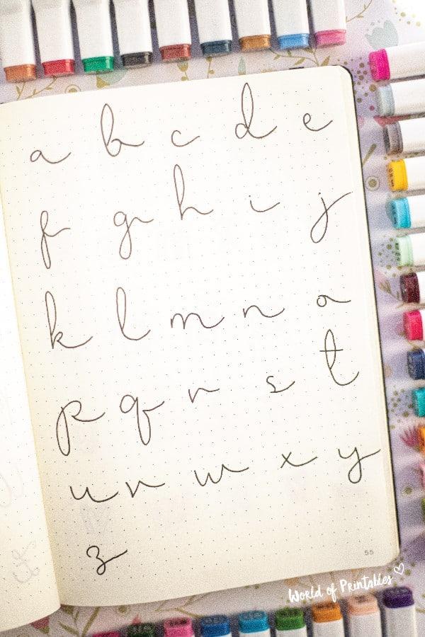 best handwritting ideas for bujo