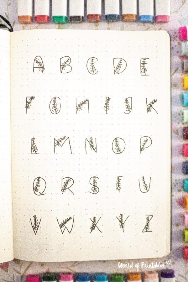 elegant letters for bujo