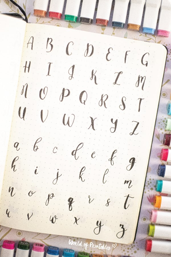 cute lettering ideas for journal