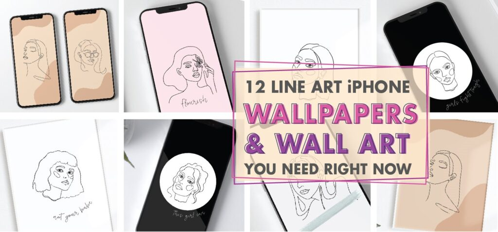 12 Line Art iPhone Wallpapers And Wall Art You Need Right Now