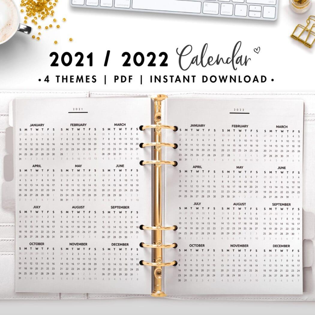 2021 2022 calendar - classic
