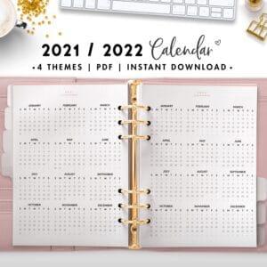 2021 2022 calendar - soft