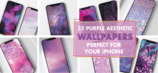 32 Purple Aesthetic Wallpapers Perfect For Your iPhone.
