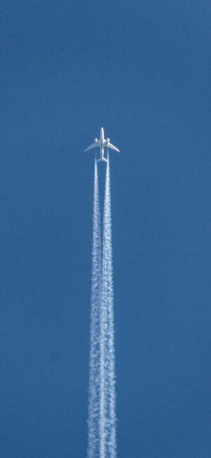 Aeroplane Blue Phone Background