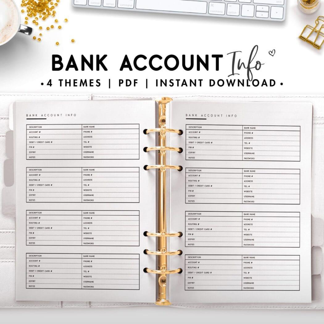 Bank account info - classic
