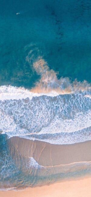 Beach Waves Blue Aesthetic Wallpaper