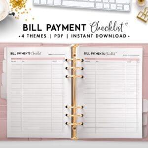Bill Payment checklist - soft theme
