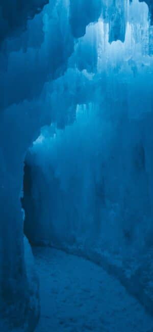 Blue Ice Caves iPhone Background