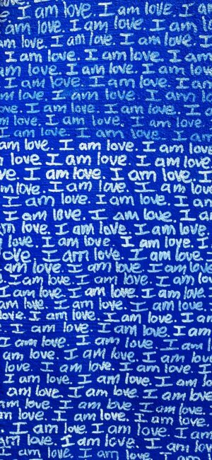 Blue Love Quote iPhone Wallpaper