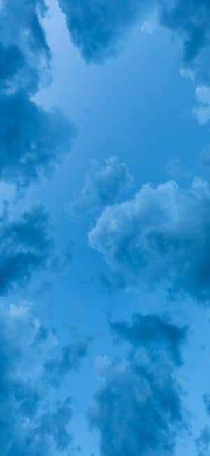 Clouds Blue Aesthetic Wallpaper For iPhone
