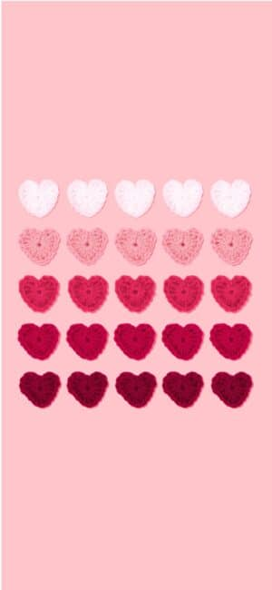 Hearts Pink Aesthetic Wallpaper
