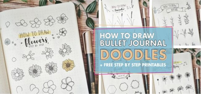 How to Draw Bujllet Journal Doodles Step by Step