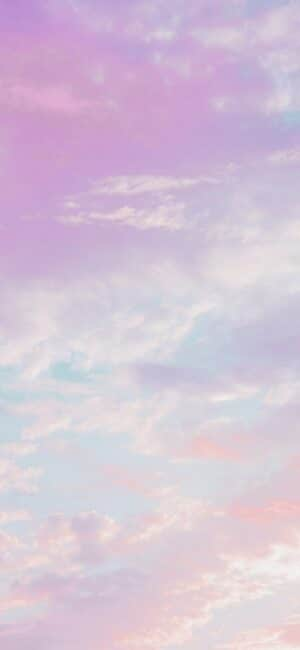 Light Purple Sky phone Background