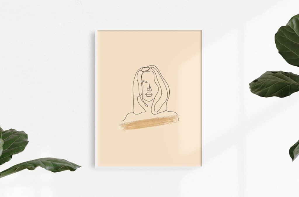 Line Art Girl 2 Free Print