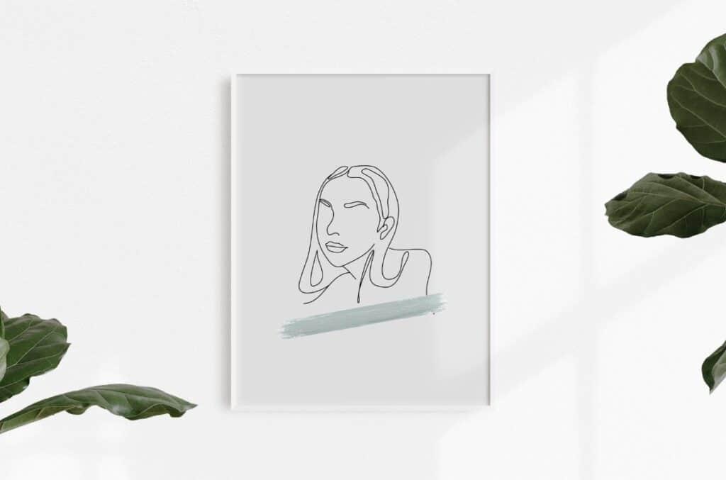Line Art Girl 3 Free Print
