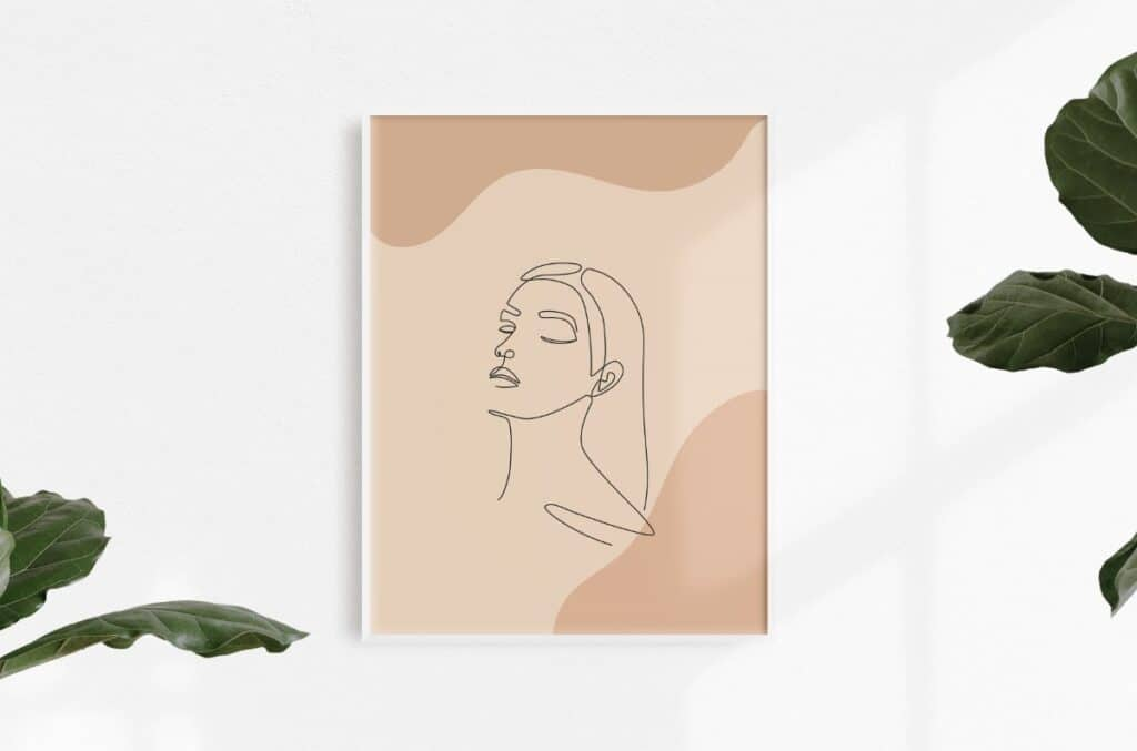 Line Art Girl 4 Free Print