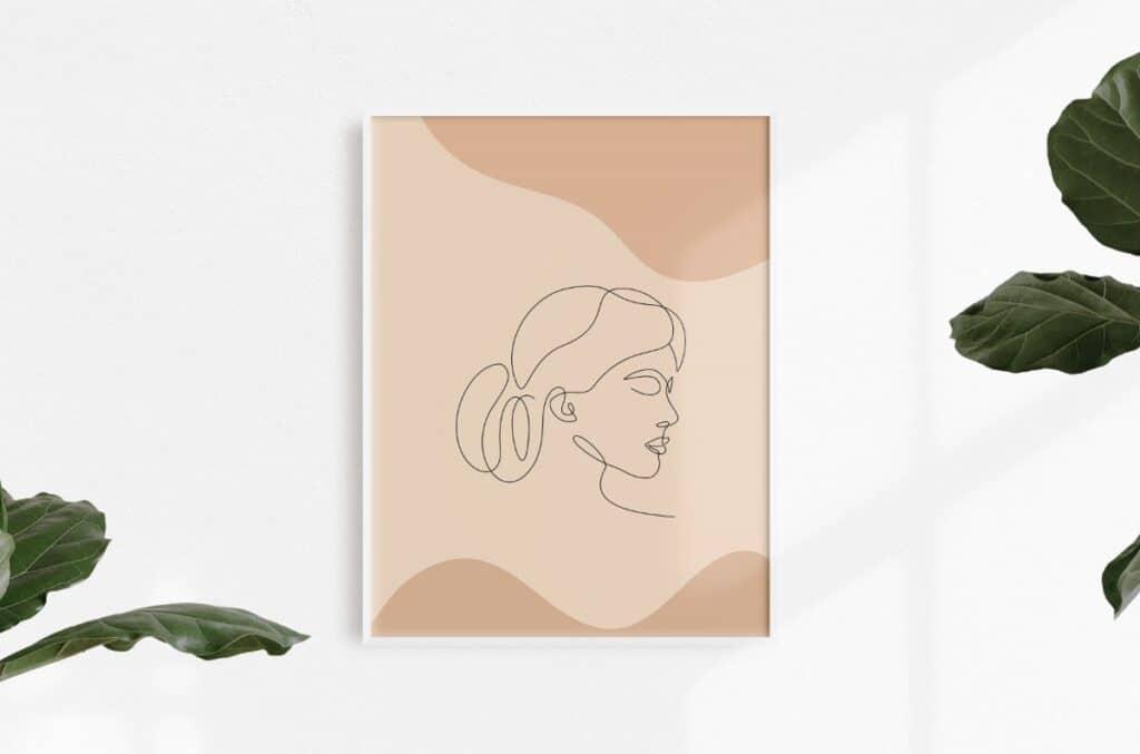Line Art Girl 5 Free Print