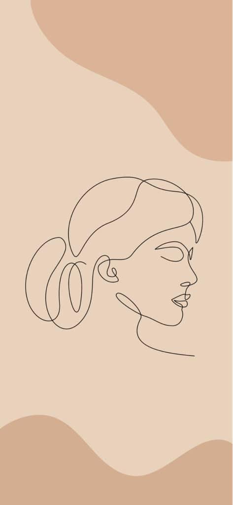 Elegant Female iPhone 12 Wallpaper
