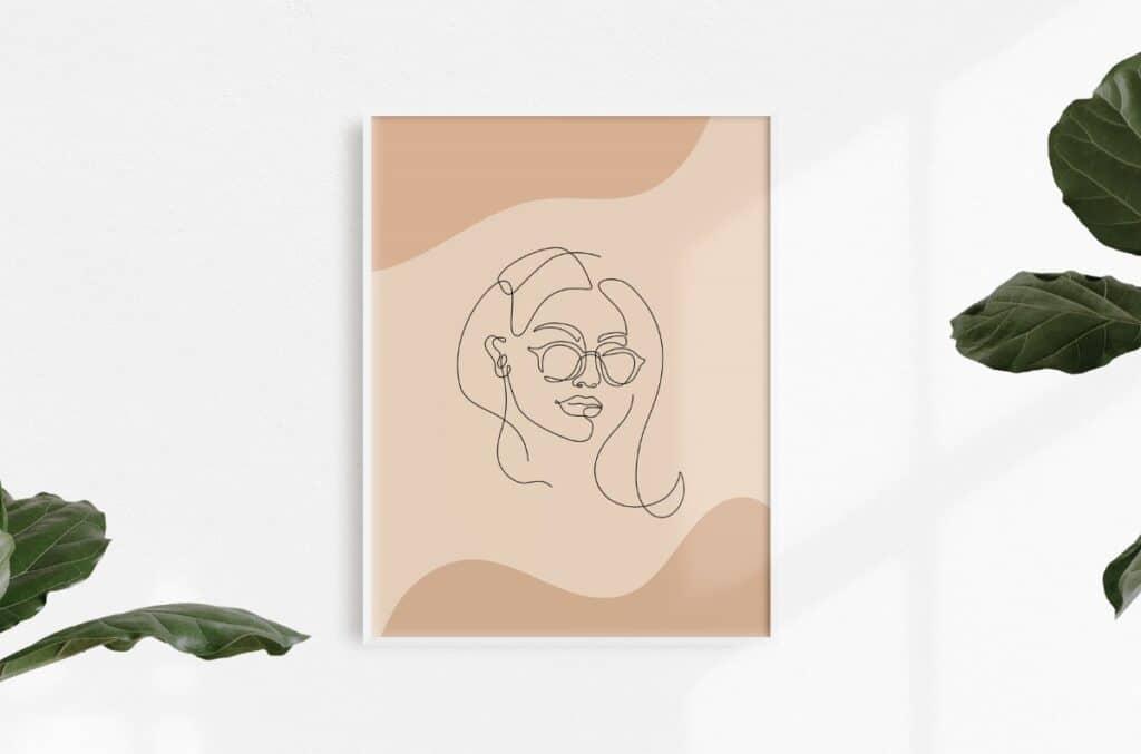 Line Art Girl 6 Free Print (1)