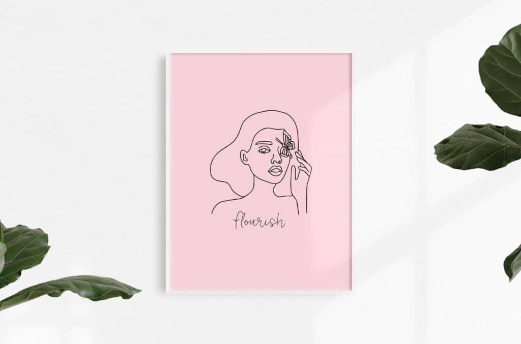 Line Art Girl 7 Free Print