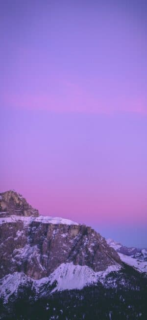 Purple Sky Mountains iPhone Wallpaper
