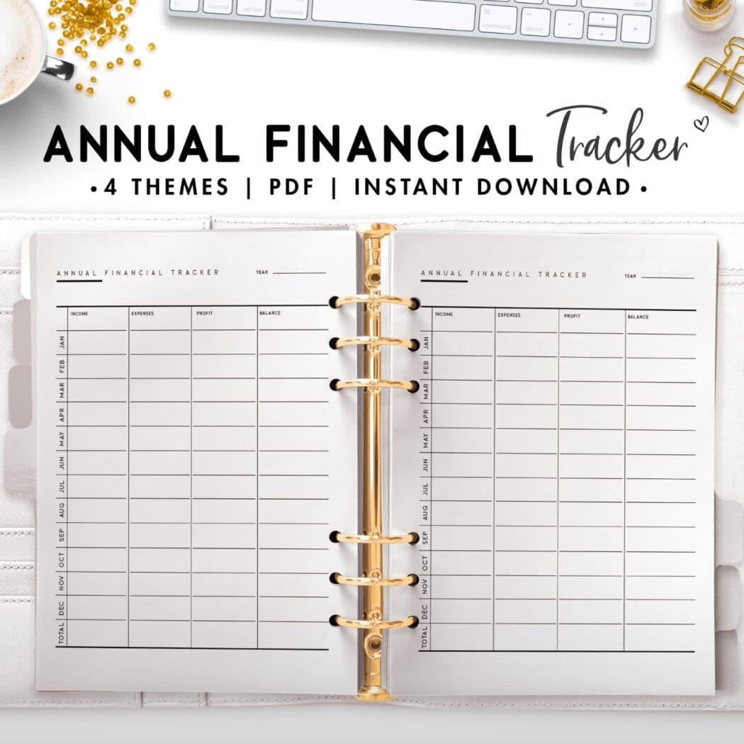 annual financial tracker - classic