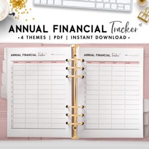 annual financial tracker - soft