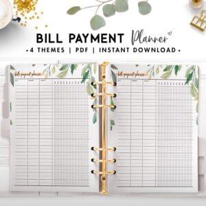 bill payment planner - botanical