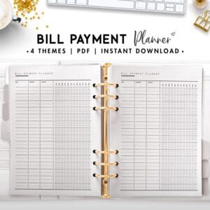 bill payment planner - classic
