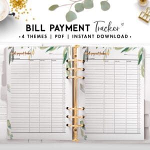 bill payment tracker - botanical