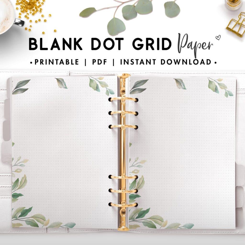 blank dot grid paper - botanical