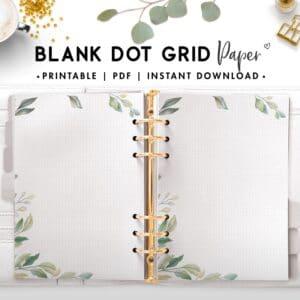 blank dot grid paper - botanical