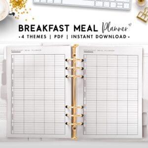 breakfast meal planner - classic