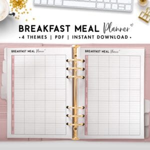 breakfast meal planner - soft